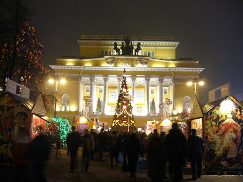 St. Petersburg, Chrismas night market